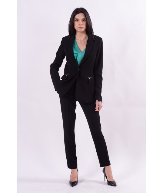 Classic Trousers Solid Color Guess