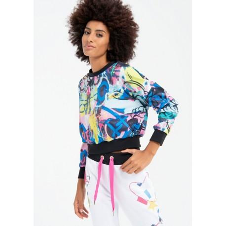 Short Sweatshirt Multicolour Fracomina