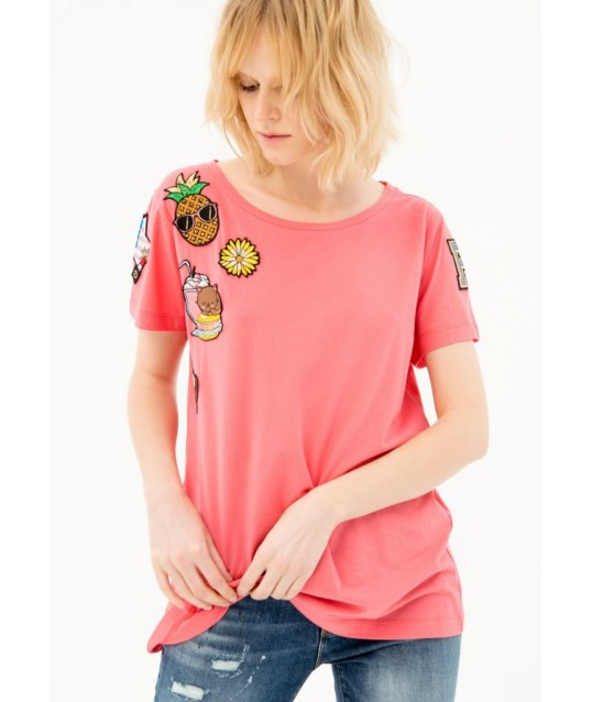 T-shirt Con Applicazioni Fracomina