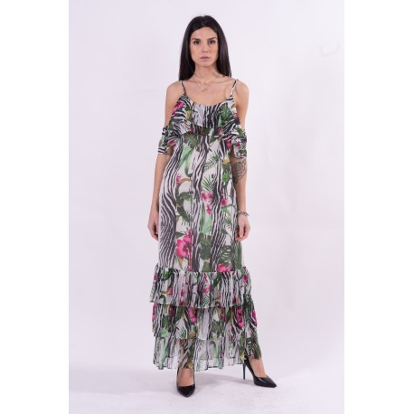 Dress With Floral Pattern Guess