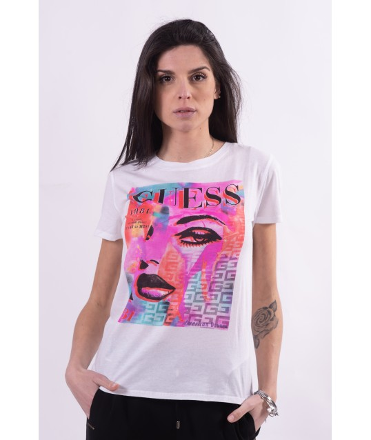 T-Shirt Con Stampa Guess