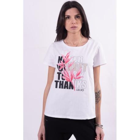 T-Shirt Con Fantasia Floreale Liu Jo