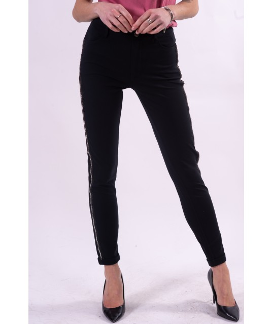 Trousers With Side Strass Liu Jo