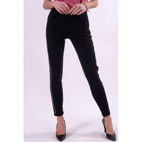 Pantalone Con Strass Laterali Liu Jo