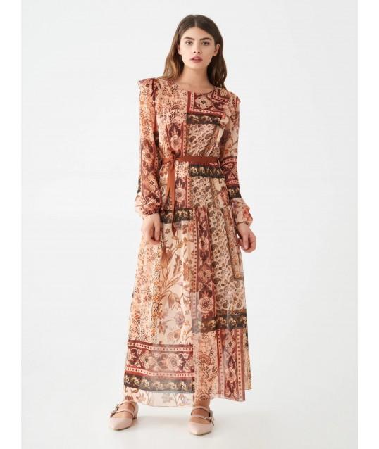 Maxi Dress Print Foulard Rinascimento