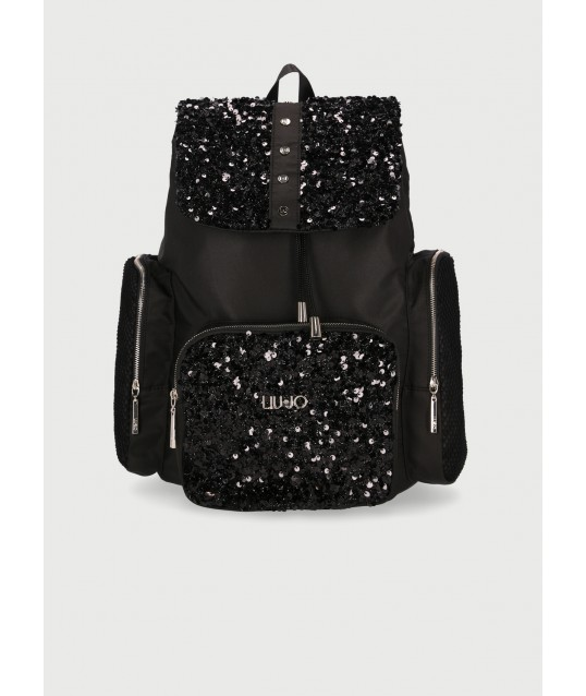 Backpack With Sequins Liu Jo