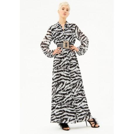 Long Dress Pattern Fracomina