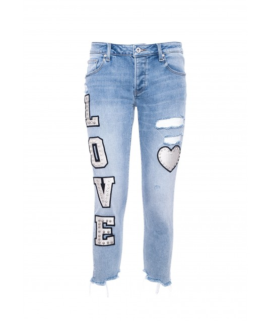 Jeans With Fracomina Print