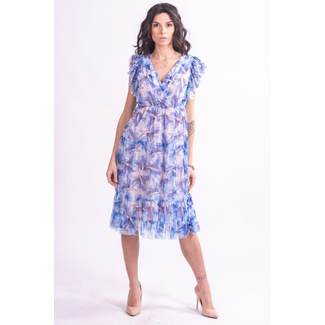 Patterned Dress With Sequins Fracomina