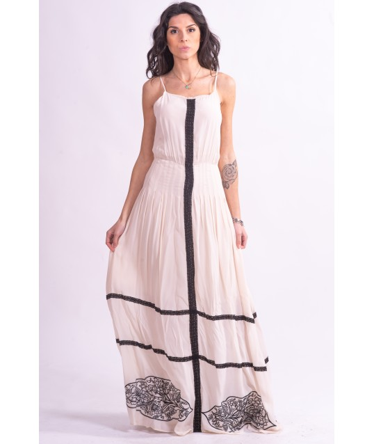 Long Dress With Embroidery Fracomina