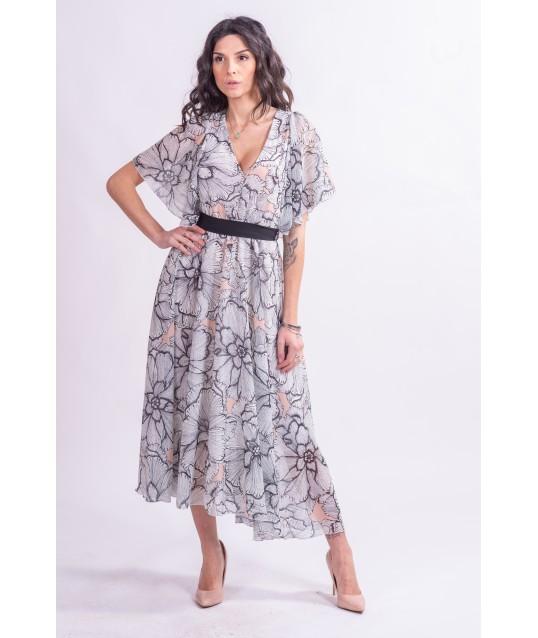 Chic Flowers Rinascimento Midi Dress