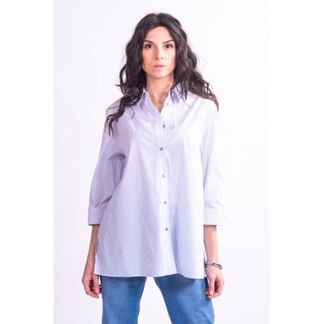 Purple Luisa Striped Shirt