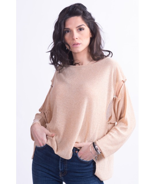Sweater With Removable Sleeves Vicolo Trivelli
