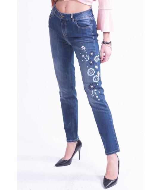 Jeans Embroidered Donatella De Paoli