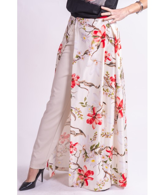 The Floral Skirt Is Open Cannella
