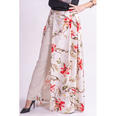 The Floral Skirt Is Open Cinnamon