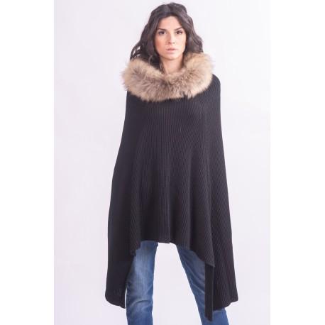 Cape With Fur Collar Francesca Mercurial