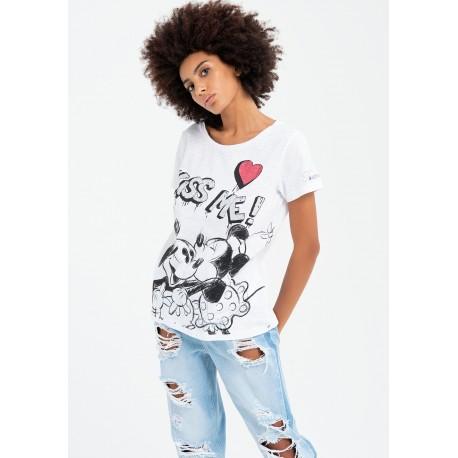 T-shirt With Disney Fracomina Print
