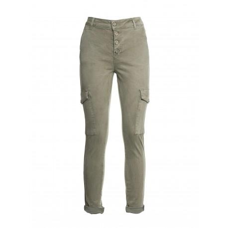 Slim Cargo Pants With Pockets Fracomina