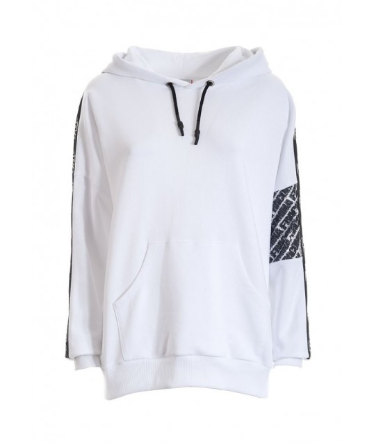 Solid Color Sweatshirt With Fracomina Side Logo