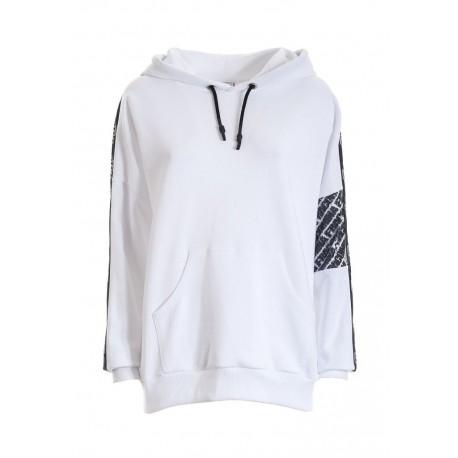 Solid Color Sweatshirt With Fracomina Logo