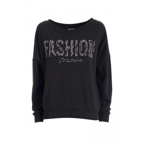 Sweater With Print And Fringes Fracomina