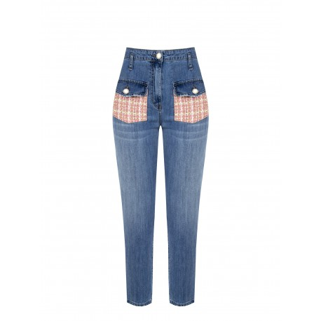 Jeans With Renaissance Tweed Pockets