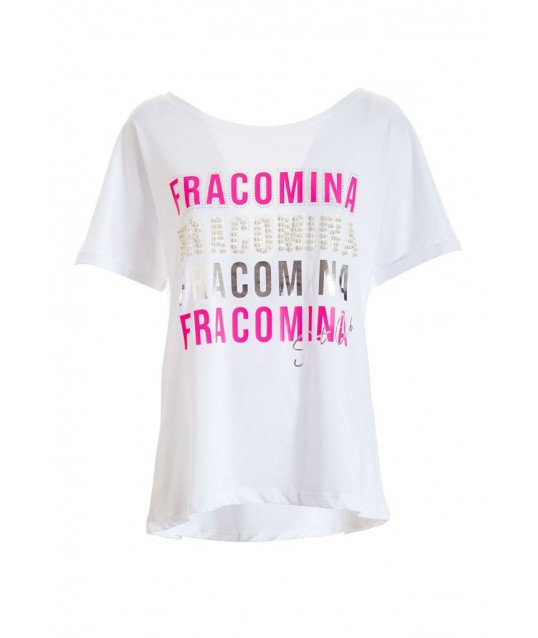 T-shirt With Fracomina Applications