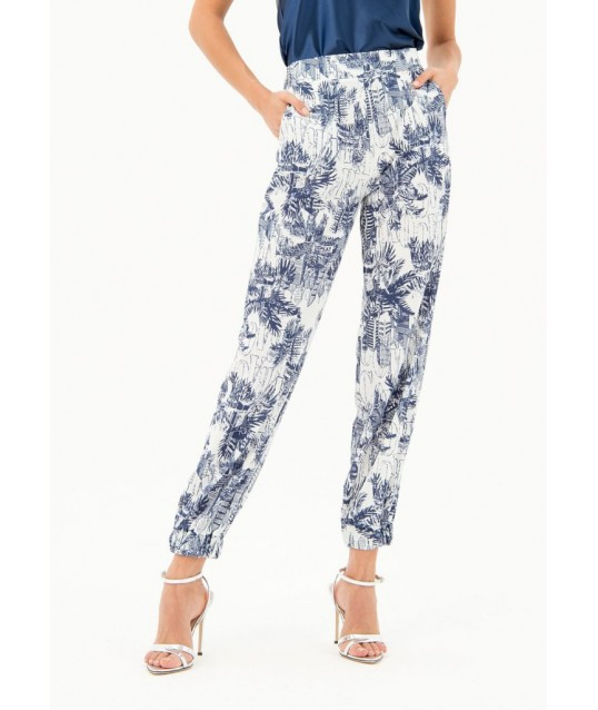 Trousers With Floral Pattern Fracomina