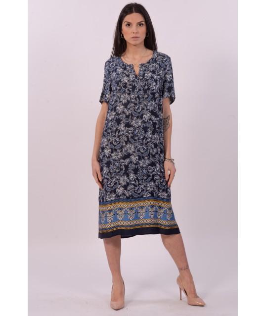 Luisa Purple Floral Print Dress