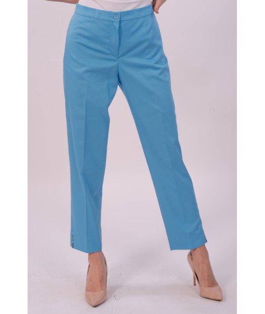 Luisa Purple Solid Color Trousers