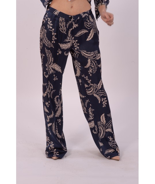 Luisa Viola Trousers With Floral Pattern