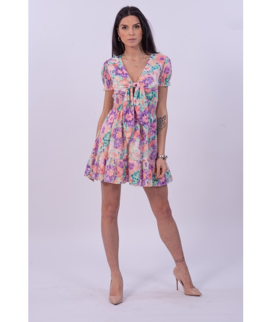 Flared Dress With Flower Fatasia Life Smiles Selection