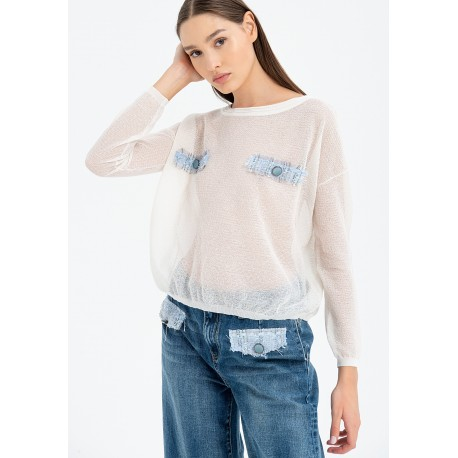 Sweater With Transparencies Fracomina