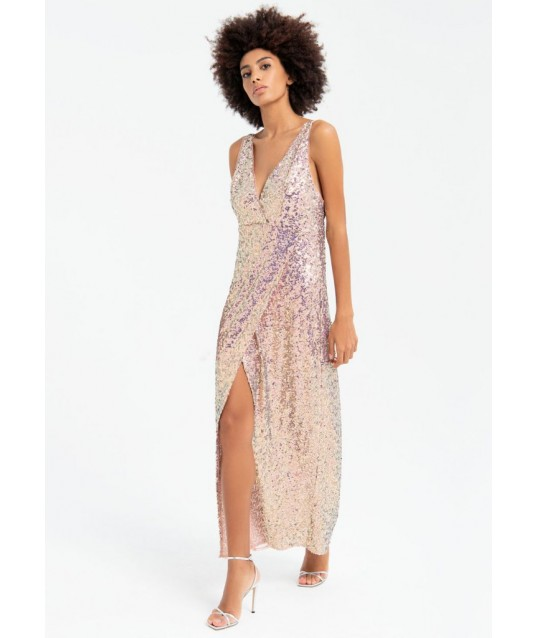 Dress With Sequins Fracomina