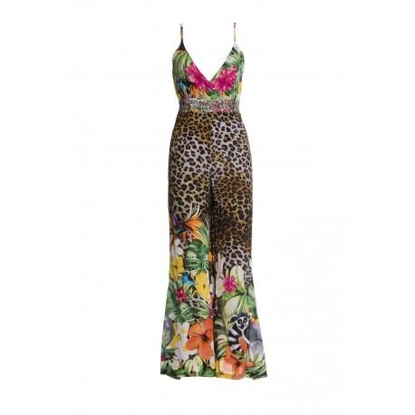 Fracomina Animalier Pattern Suit