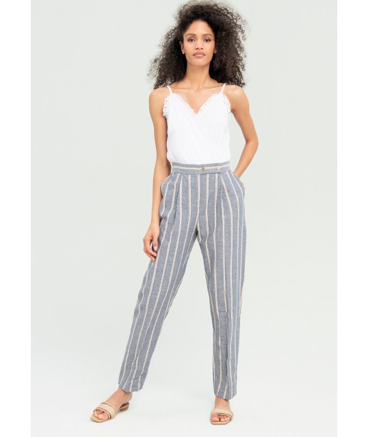 Tracksuit With Striped Pants Fracomina