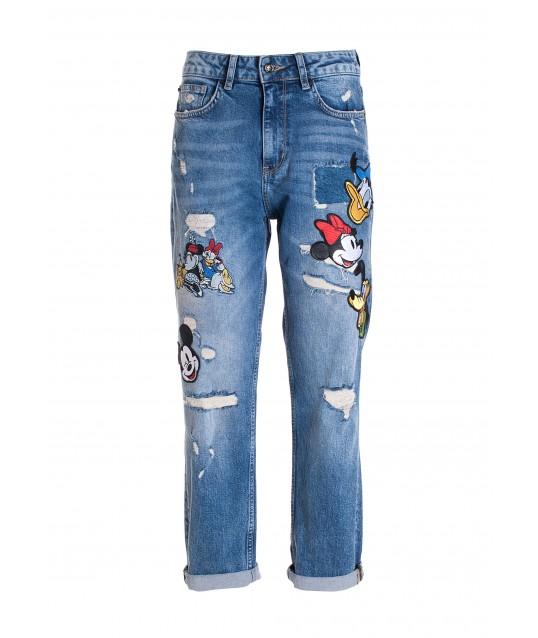 Jeans Loose Fit In Denim Con Lavaggio Medio Fracomina