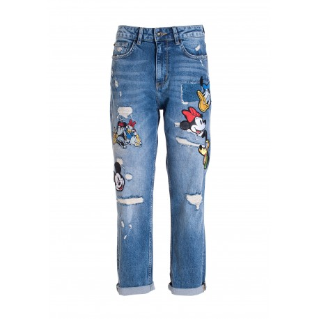 Loose Fit Jeans In Denim With Medium Wash Fracomina