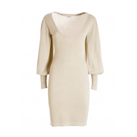 Tight-fitting Knitted Dress With Lurex Fracomina