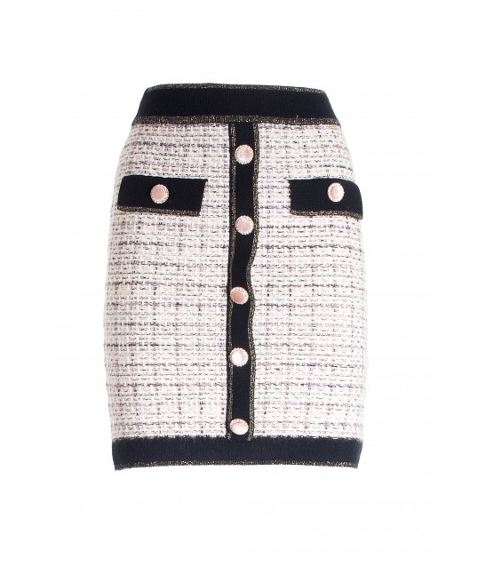 Mini Adherent Skirt In Tweed Fracomina
