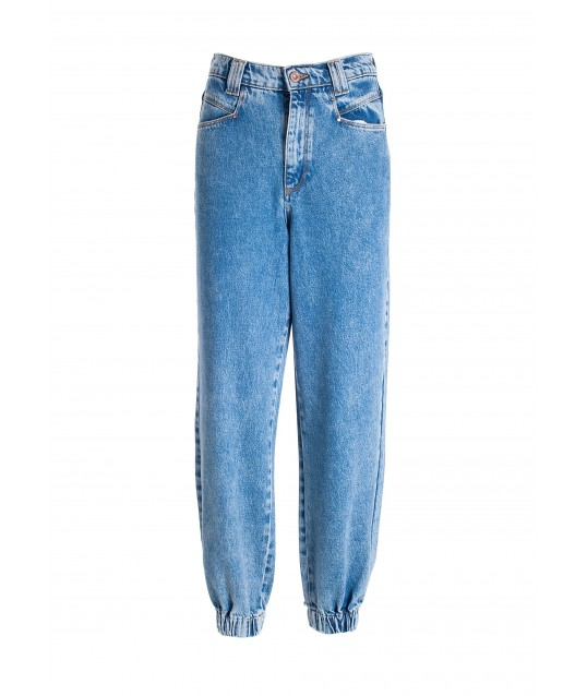 Jeans Carrot In Denim Con Lavaggio Bleached Fracomina