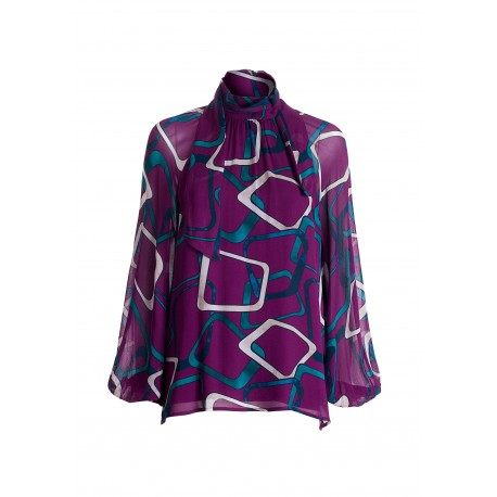 Wide Blouse With Geometric Pattern Fracomina
