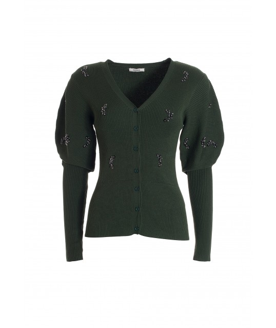 Fitted Cardigan With Ribs Fracomina