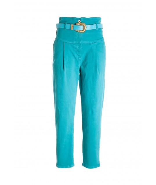Fracomina Cotton Satin Trousers