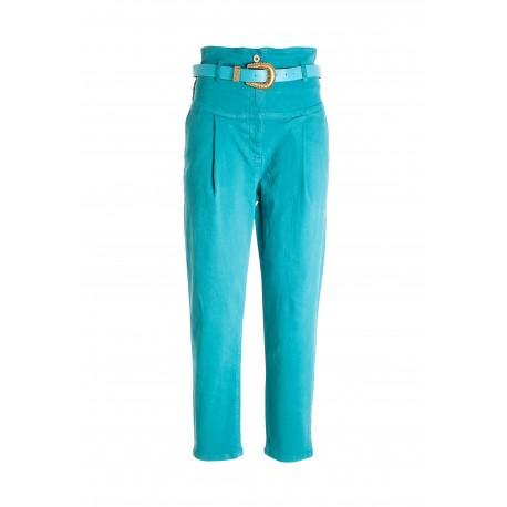 Pantalone In Raso Di Cotone Fracomina