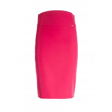 Midi Tight Pencil Skirt In Fracomina Technical Fabric