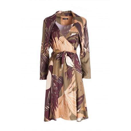 Regular Midi Dress In Floral Pattern Fracomina