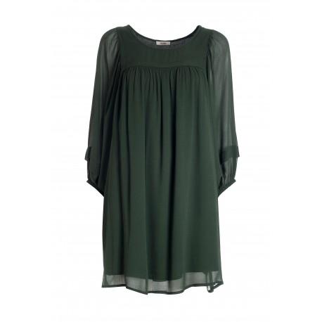 A Line Mini Dress In Viscose Georgette Fracomina