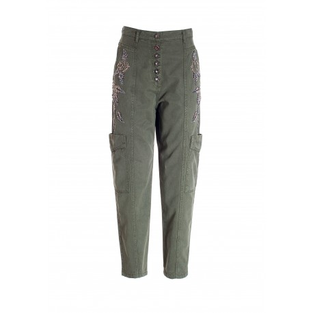 Carrot Trousers With Side Pockets Fracomina